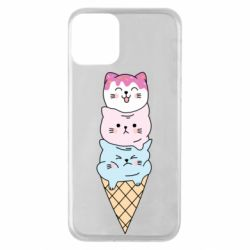 Чехол для iPhone 11 Ice cream kittens