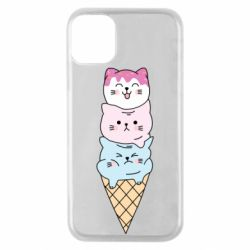 Чехол для iPhone 11 Pro Ice cream kittens