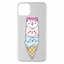 Чехол для iPhone 11 Pro Max Ice cream kittens