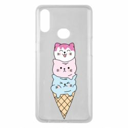 Чехол для Samsung A10s Ice cream kittens