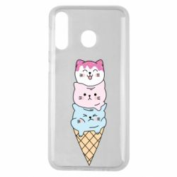 Чехол для Samsung M30 Ice cream kittens