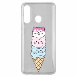 Чехол для Samsung M40 Ice cream kittens
