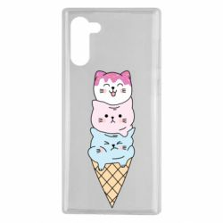 Чехол для Samsung Note 10 Ice cream kittens