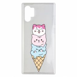 Чехол для Samsung Note 10 Plus Ice cream kittens