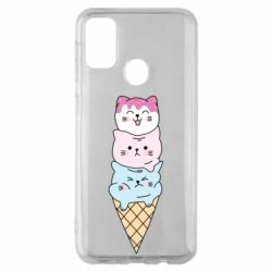 Чехол для Samsung M30s Ice cream kittens