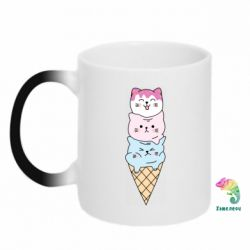 Кружка-хамелеон Ice cream kittens