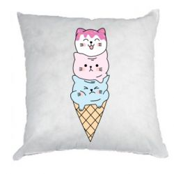 Подушка Ice cream kittens