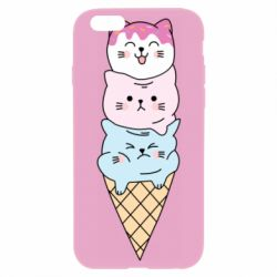 Чехол для iPhone 6 Plus/6S Plus Ice cream kittens