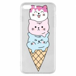 Чехол для iPhone 7 Plus Ice cream kittens