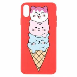 Чехол для iPhone X/Xs Ice cream kittens