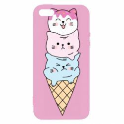 Чехол для iPhone5/5S/SE Ice cream kittens