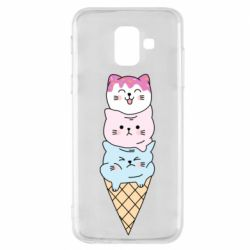 Чехол для Samsung A6 2018 Ice cream kittens