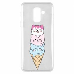 Чехол для Samsung A6+ 2018 Ice cream kittens