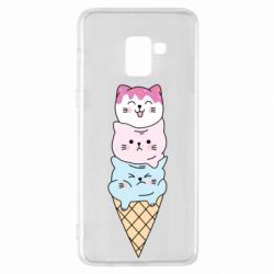 Чехол для Samsung A8+ 2018 Ice cream kittens