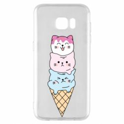 Чехол для Samsung S7 EDGE Ice cream kittens