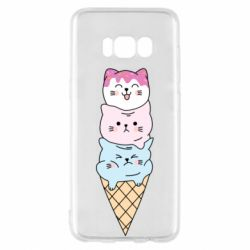 Чехол для Samsung S8 Ice cream kittens