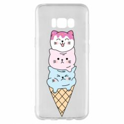 Чехол для Samsung S8+ Ice cream kittens