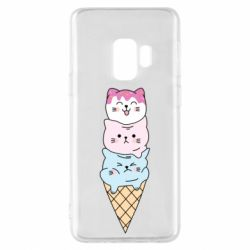 Чехол для Samsung S9 Ice cream kittens