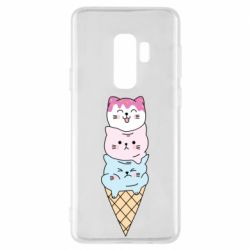 Чехол для Samsung S9+ Ice cream kittens