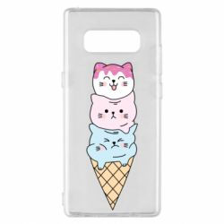 Чехол для Samsung Note 8 Ice cream kittens