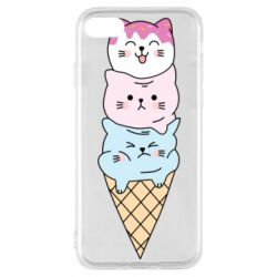 Чехол для iPhone 8 Ice cream kittens