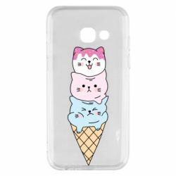 Чехол для Samsung A3 2017 Ice cream kittens