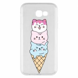 Чехол для Samsung A7 2017 Ice cream kittens