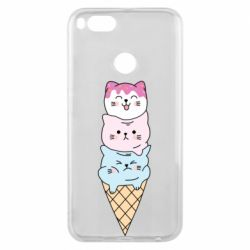 Чехол для Xiaomi Mi A1 Ice cream kittens