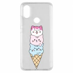Чехол для Xiaomi Mi A2 Ice cream kittens