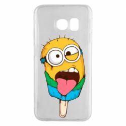 Чехол для Samsung S6 EDGE Ice cream minions