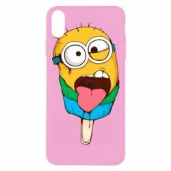 Чехол для iPhone Xs Max Ice cream minions