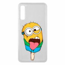 Чехол для Samsung A7 2018 Ice cream minions