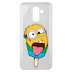 Чехол для Samsung J8 2018 Ice cream minions