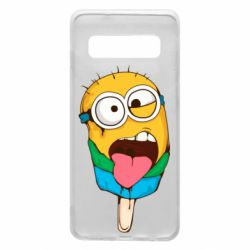 Чехол для Samsung S10 Ice cream minions