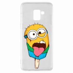 Чехол для Samsung A8+ 2018 Ice cream minions
