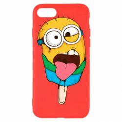 Чехол для iPhone 8 Ice cream minions