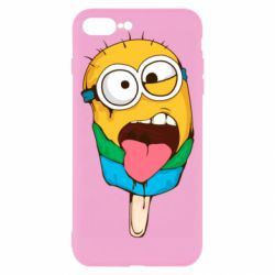 Чехол для iPhone 8 Plus Ice cream minions