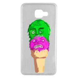 Чехол для Samsung A7 2016 Ice cream with face