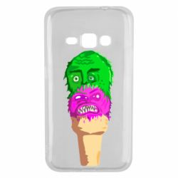 Чехол для Samsung J1 2016 Ice cream with face
