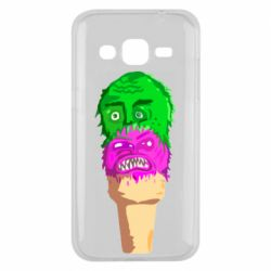 Чехол для Samsung J2 2015 Ice cream with face