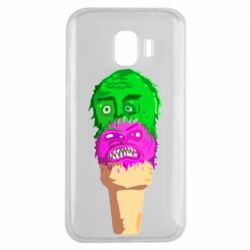 Чехол для Samsung J2 2018 Ice cream with face