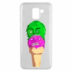 Чехол для Samsung J6 Ice cream with face