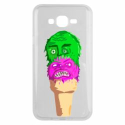 Чехол для Samsung J7 2015 Ice cream with face