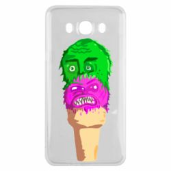 Чехол для Samsung J7 2016 Ice cream with face