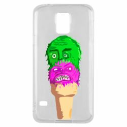 Чехол для Samsung S5 Ice cream with face