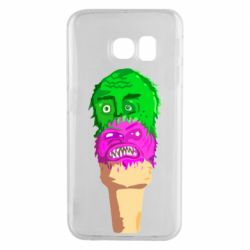 Чехол для Samsung S6 EDGE Ice cream with face