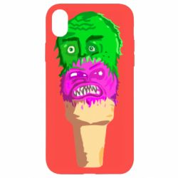 Чехол для iPhone XR Ice cream with face