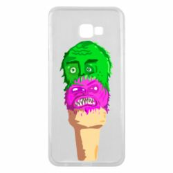 Чехол для Samsung J4 Plus 2018 Ice cream with face