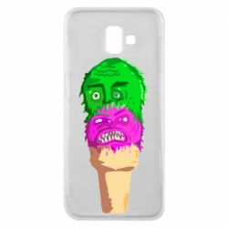 Чехол для Samsung J6 Plus 2018 Ice cream with face