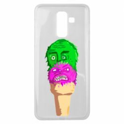 Чехол для Samsung J8 2018 Ice cream with face